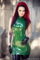 Starfucked in Shitake Gothic Latex Couture I by BelindaBartzner