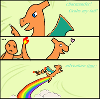 Charmander grabs my tail by ImGwen
