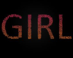 Girl typography wallpaper by clarksie112