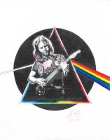 THE DARK SIDE OF THE MOON David Gilmour Pink Floyd by martyparkerart