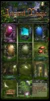 Ancient Magic backgrounds by moonchild-ljilja