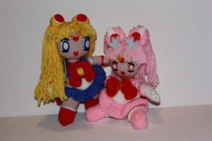 for sale - Sailor Moon and Sailor Chibi Moon by icanhazcuteness