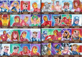 Iron Man Sketch Cards by jFury