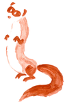 Watercolor ferret by Dinsdale