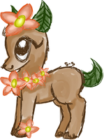 ADOPT: Flower Deer [OPEN] by star-sprout