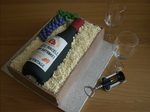 Wine Bottle Box Cake by sparks1992