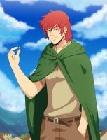 Kvothe holding the ring by Xelgot