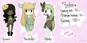{CLOSED/AUCTION} Gijinka Adoptable set # 7 by Moonie-CHI