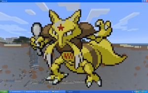 Kadabra On Minecraft by Miccopicco