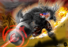 Hells Battle +color+ by WerewolfMax