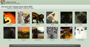 2012 One year with Captain-Clover by Captain-Clover