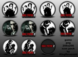Max Payne 2 png icon pack by KingReverant