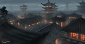Hidden City of the Ninja by tesorone