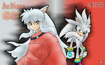 Silver the hedgehog and Inuyasha by shadowhatesomochao
