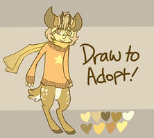 Draw to Adopt Deer Boy (CLOSED) by shotadopts