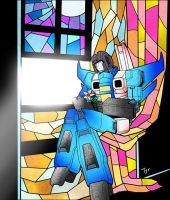 Thundercracker in the Glass by Tyr44