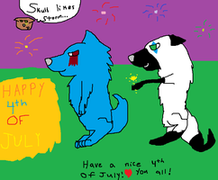 Happy 4th of july ^^ by StormFemaleWolf