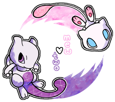 .Mew+Two. by crayon-chewer