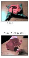 Rose and Elephants by Slitwalker