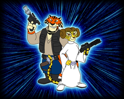 Vitaly and Gia as Han and Leia by BennytheBeast