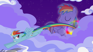Nightly rainboom by Mithandir730