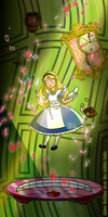 Alice falling down the rabbit hole by LeenaGaliffi