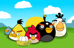 Happy anniversary with Angry Birds by Antixi