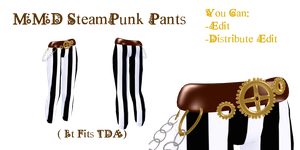 mmd steampunk pants by Tehrainbowllama