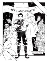 Aces and Eights Splash INK by ChaosComix