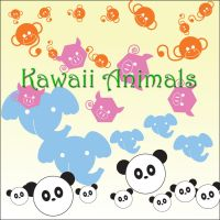 Kawaii Animal Brushes by yamin0