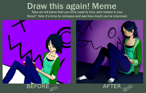 Draw This Again! Meme: Reading by CandiGhoul