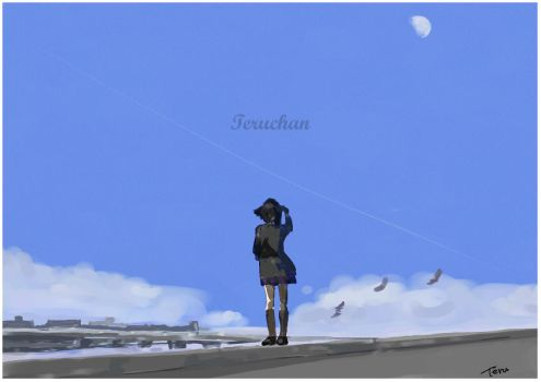 Moon in the Day by Teruchan