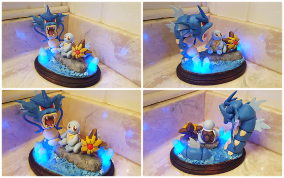 Water Pokemon Light Up Sculpture by Kyreon