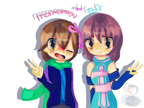 Art-trade mormoromu and frisk of MT by Candydulce22