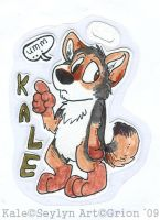 Kale chibi badge by Grion