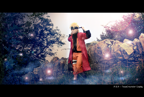 On a Legendary trip to find Ramen - Naruto Uzumaki by TessaCrownster