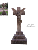 Angel cross tombstone by TinaLouiseUk