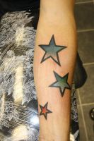 coloured stars by SimplyTattoo