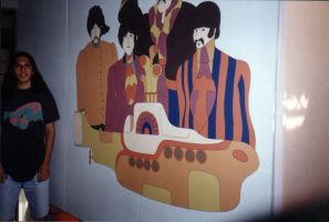 Yellow submarine mural by reverendman5on