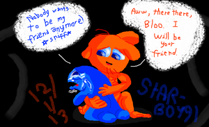 Wander Comforts Bloo by StarBoy91