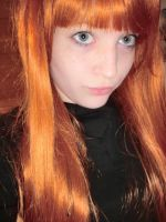 My new orange wig 1 by Bellaju