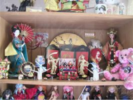 Love for Asian culture shelf by JCproductions
