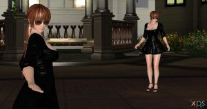 Dead or alive Kasumi black dress ( link zip ) by Gwen35500