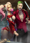 Joker and Harley by SourAcid