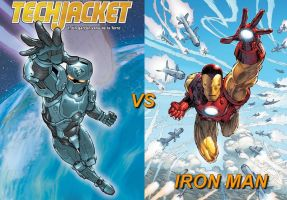 Tech Jacket vs Iron Man by VMJML1er
