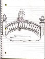 Girl on bridge original by Button-the-random