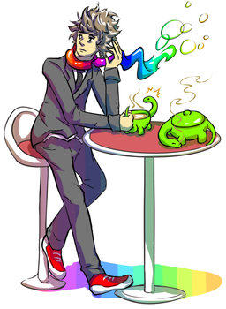 Colorful Tea-time by Sarcallow