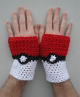 Pokeball Fingerless Gloves by RebelATS