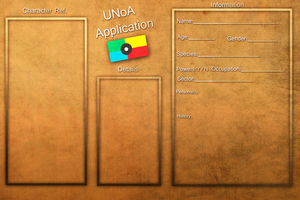 UNoA Application by FeatheredSoap