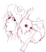 Sammy and Eevee by EssenceOfEvil